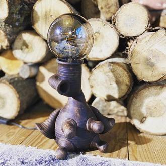 керамический светильник, лофт лампа
