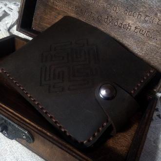 Кожаный кошелек, Кошелек мужской, Коричневый кошелек из кожи, кошелек с отделением для мелочи