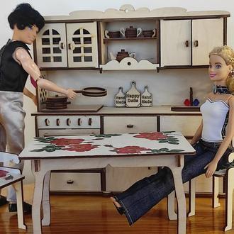 Кухня для кукол. Мебель для кукол Барби. Мебель в кукольный дом