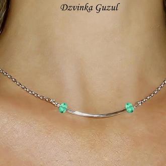 Срібний кулон браслет срібло колье пандора кристали сваровскі подарунок new тренд Dzvinka Guzul люкс
