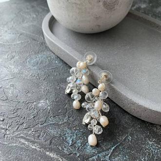 Свадебные серьги, сережки, серьги для невесты