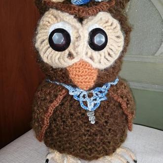 Мягкая игрушка ручной работы Совушка Сова