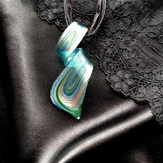 Кулон  муранское стекло Мурано подвеска ожерелье Венеция модное украшение dzvinka guzul тренд люкс