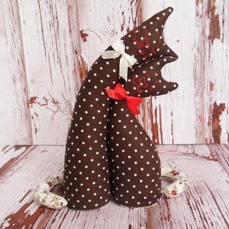 Влюбленные коты коричневые, игрушка