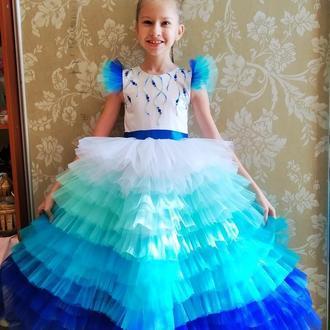 Платье Морская царевна на 6-8 лет на выпускной