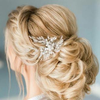 Весільна прикраса для волосся, шпилька в зачіску, прикраса в зачіску нареченій