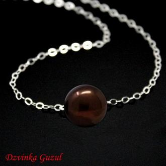 Срібний браслет колье модна прикраса кулон срібло перли Пандора подарунок dzvinka guzul тренд люкс