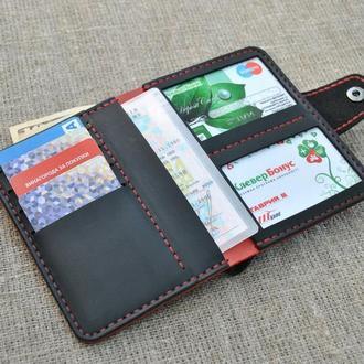 Портмоне для денег и документов из натуральной кожи D06-0+580+red