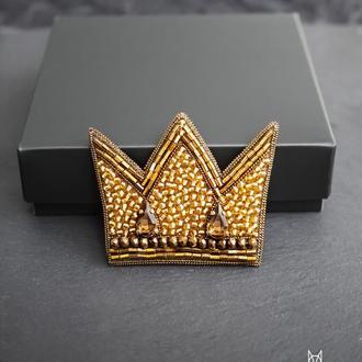 Брошь Золотая корона
