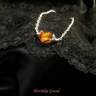 Серебряный браслет серебро кулон подвеска Пандора ожерелье кристал сваровски dzvinka guzul тренд new