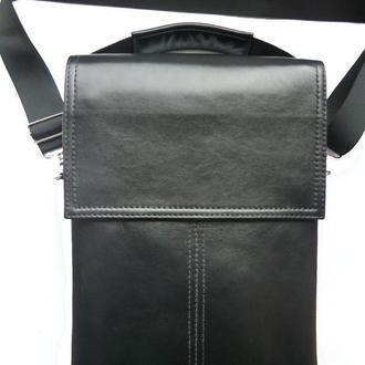 Кожаная сумка мужская формата А-4
