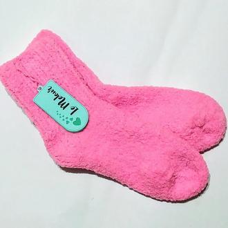 Вязанные носочки.Розовые оригинальные носки.
