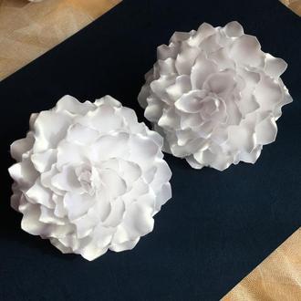 Резинки для волос, білі банти на 1 вересня, резиночки бантики