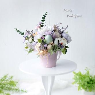 Композиція з квітами /Пасхальна композиція / Композиція на стіл