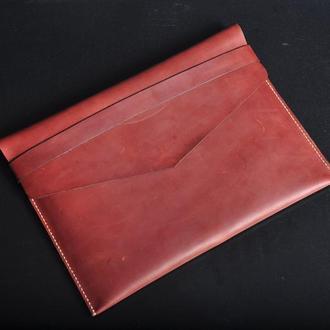 Папка для ноутбука кожаная