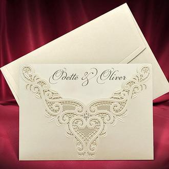 Свадебные приглашения с высеченным узором (арт. 2736)