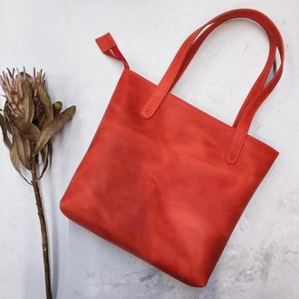 Женская кожаная сумка шоппер Stedley трапеция