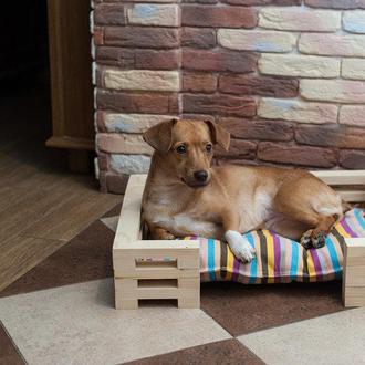 Спальное место для кошек и собак Lukoshko Natural с матрасиком Sonno Orange
