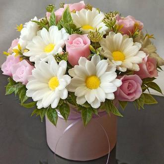 Букет цветов из парфюмированного мыла
