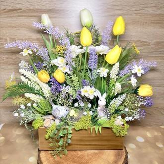 Весенняя пасхальная композиция великодня весняна композиція