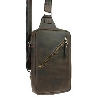 Именная кожаная сумка слинг Crossline 1