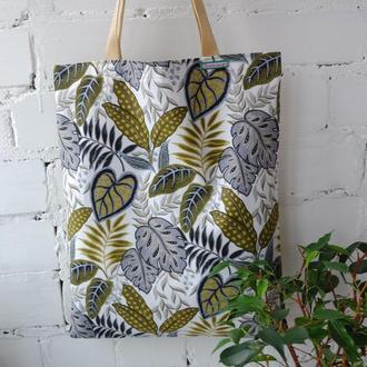 "Эко сумка ""Тропики"", тканевая сумка пакет, эко торба, шоппер"