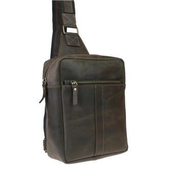 Именная кожаная сумка слинг Crossline 2
