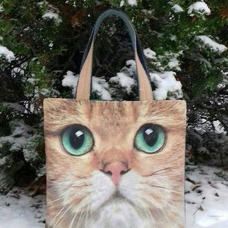 "Хендмейд-сумка ""Чеширский кот"""