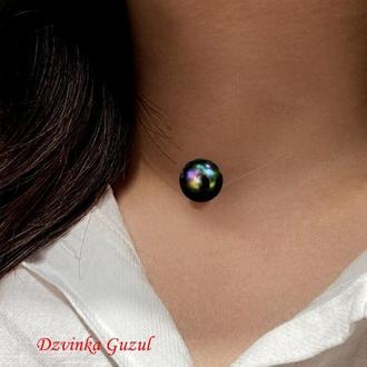 Кулон невидимый жемчуг на леске жемчужина стильное украшение модное ожерелье dzvinka guzul подарок