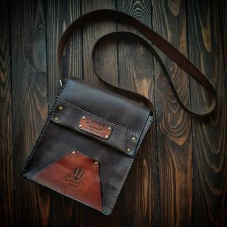 Мужская сумка мессенджер KLAUSBERG Leather