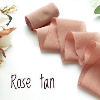 Батистовая лента для свадебного букета, матово - розового цвета