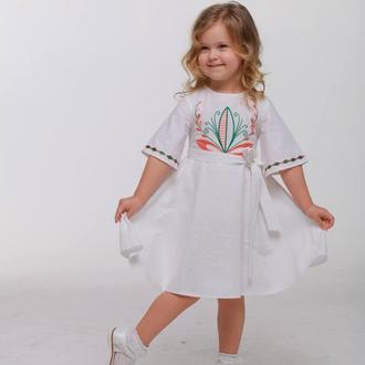 Дитяча сукня вишиванка «Пробудження» біла
