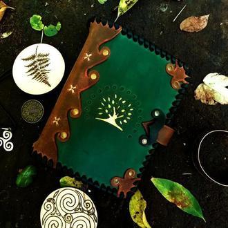 Кожаный блокнот, необычный блокнот из кожи, оригинальный блокнот на подарок, эксклюзивный блокнот