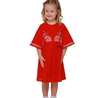 Дитяча сукня вишиванка «Веснянка» бордо