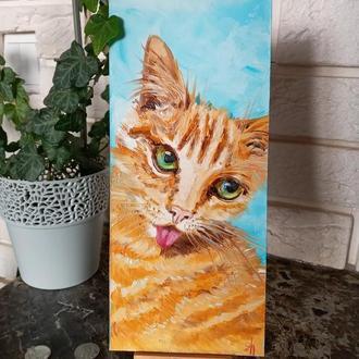 "Картина маслом ""Котик"""