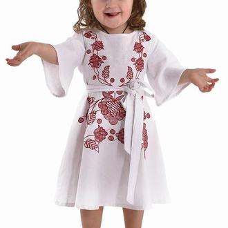 """Вишита сукня для дівчинки """"Громовиця"""" бордо"""