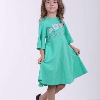 """Дитяча сукня вишиванка """"Невісточка"""" м'ята"""