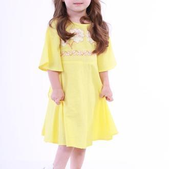 """Дитяча сукня вишиванка """"Невісточка"""" жовта"""