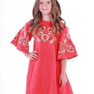 """Дитяча сукня вишиванка """"Знахідка"""" червона"""