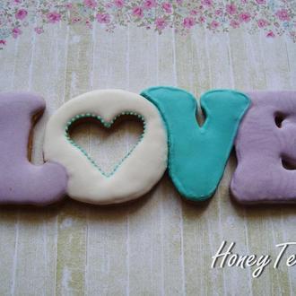 Имбирный медовый пряник LOVE