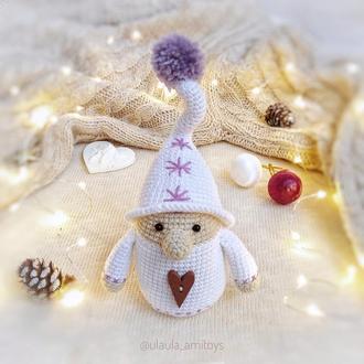Рождественский гном Игрушка амигуруми