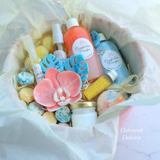 """Подарочный набор """"Манго и тропики XL"""" , подарок для девушки,  на день рождения"""