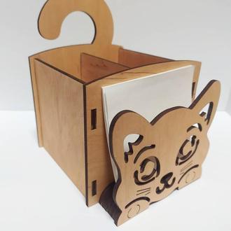 Деревянная подставка органайзер