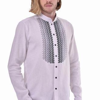 Чоловіча вишита сорочка «Шепіт» біла