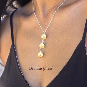 Срібний кулон перлина прикраса колье срібло перли Пандора намисто dzvinka guzul подарунок тренд буси