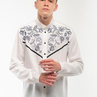 Чоловіча вишита сорочка Знахідка біла