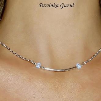 Серебряный кулон браслет серебро колье Подарок ожерелье кристал Сваровски dzvinka guzul тренд люкс