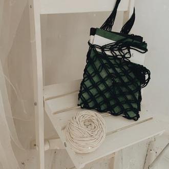 Макраме авоська Натуральная еко сумка Авоська ручной работы Сумка в технике макраме