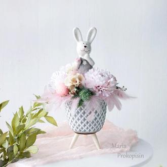 Композиція з квітами /Пасхальна композиція / Композиція на стіл / Весняна композиція