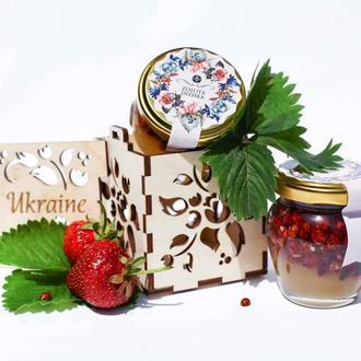 Подарунковий набір з медом UKRAINIAN COMPLIMENT #1